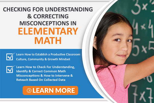 Checking For Understanding in Elementary Math