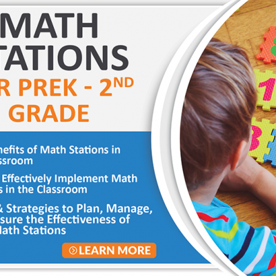 Math Stations for PreK-2nd Grade Course