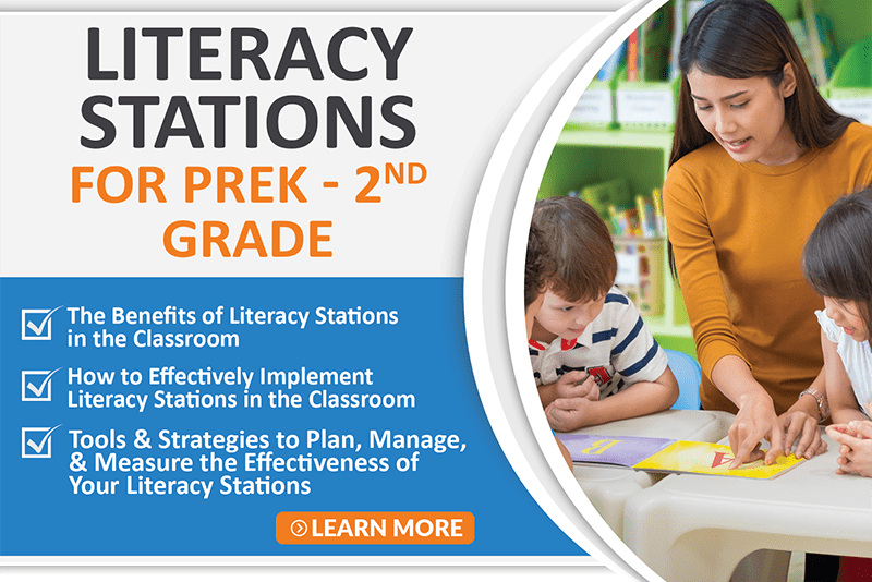 Literacy Stations For Prek-2nd Grade