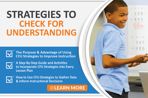 Strategies to Check For Understanding