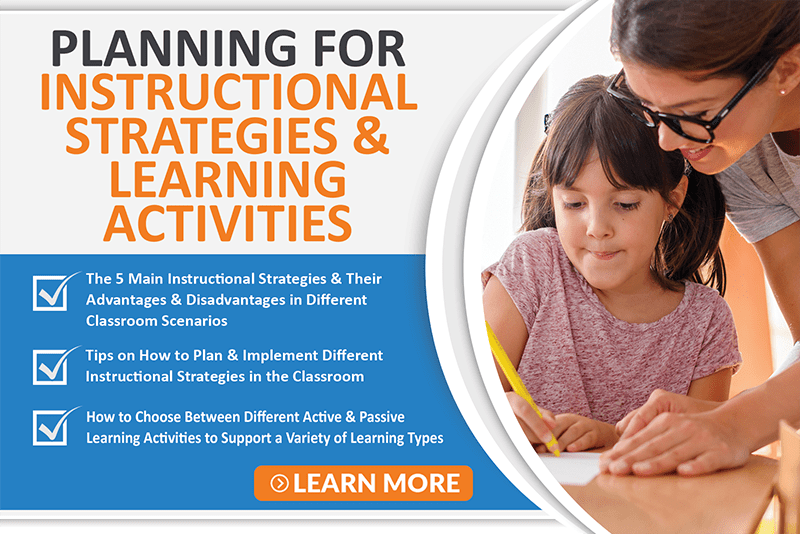 Planning For Instructional Strategies & Learning Activities